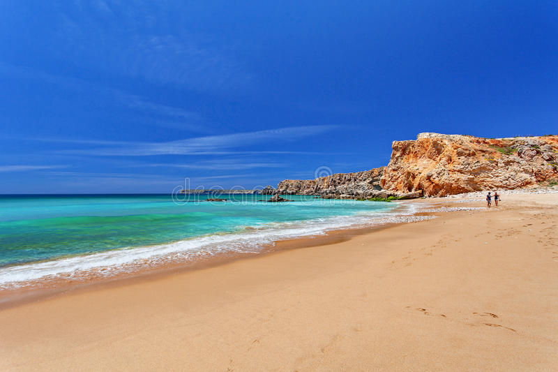 Atlantik - Sagres Algarve, Portugal stockbilder