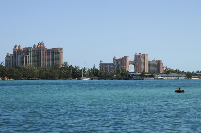 Atlantis, Bahamas. Atlantis resort, on the Paradise Island, Bahamas stock photography