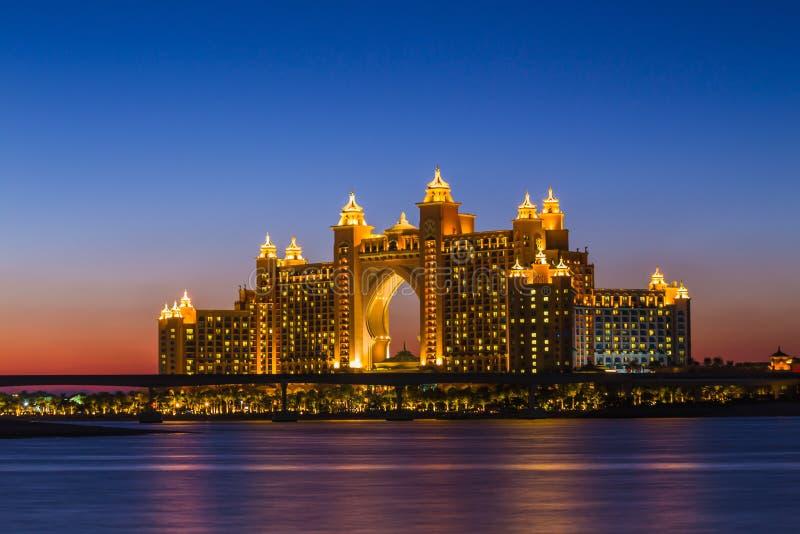 atlantis dubai hotell UAE royaltyfri bild