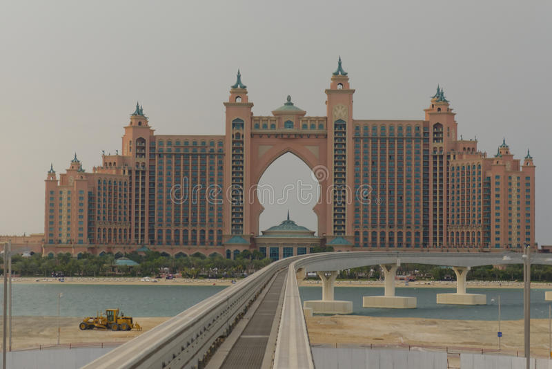 atlantis Dubai hotelowa wyspy jumeirah palma zdjęcie royalty free