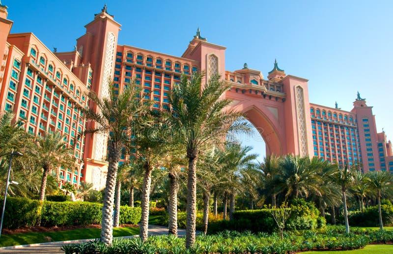 atlantis Dubai hotelowa wyspy jumeirah palma fotografia stock