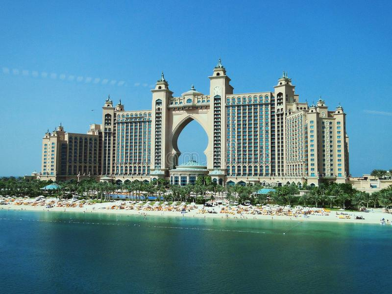 Atlantis gömma i handflatan, Dubai, Förenade Arabemiraten arkivfoton