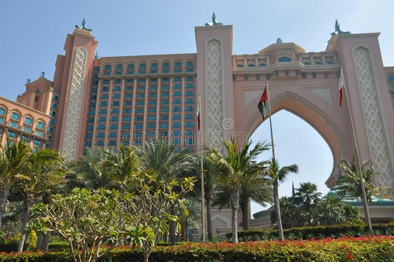 Atlantis gömma i handflatan i Dubai, UAE royaltyfri bild