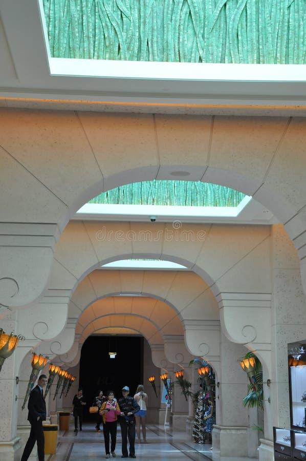 Atlantis - gömma i handflatan i Dubai, UAE arkivfoto