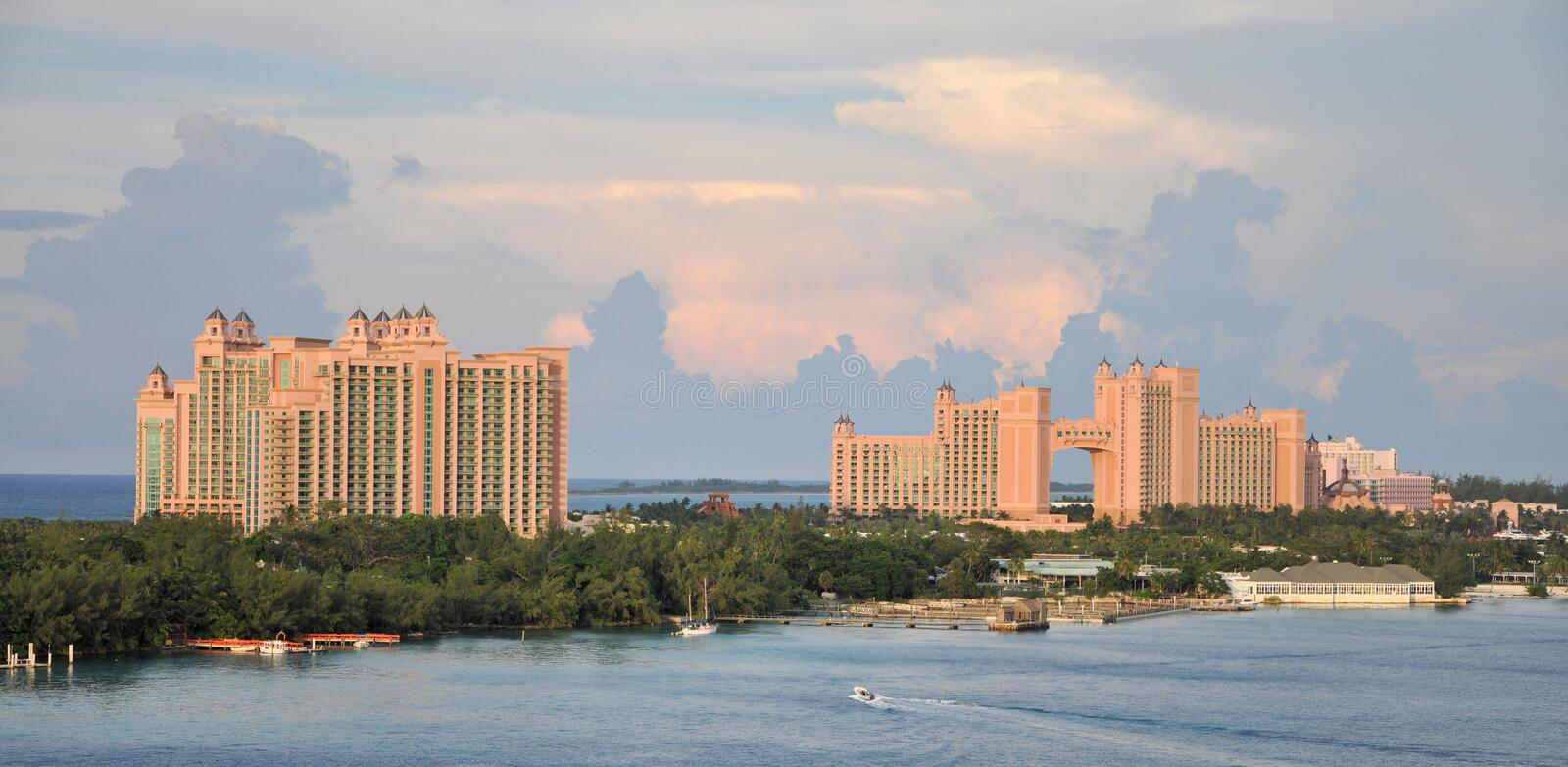 Atlantis Hotel. Image of tha Atlantis Hotel and Casino at Nassau The Bahamas stock photography