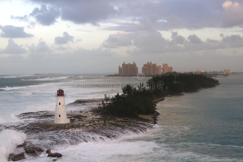 Atlantis Hotel in Bahamas stock photography