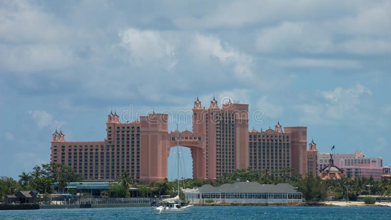 Atlantis Hotel in Bahamas royalty free stock photos