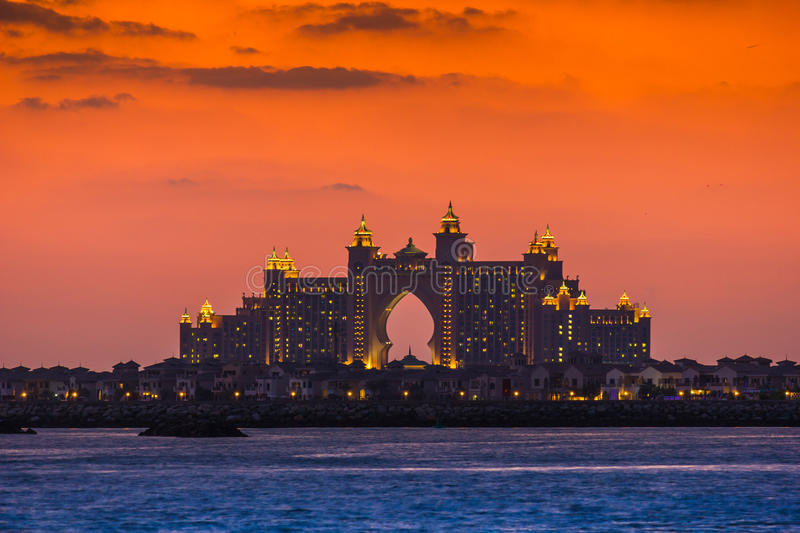 Atlantis Hotel in Dubai. UAE. November 17, 2012 stock photography
