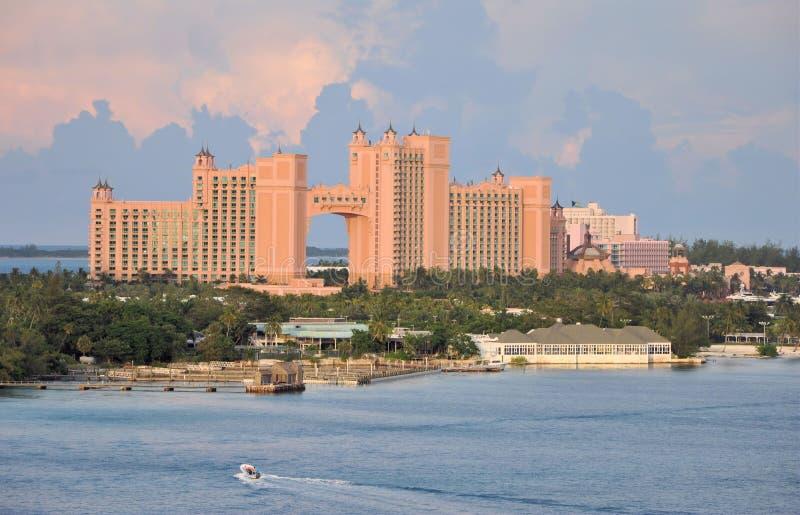 Atlantis-Hotel Nassau Bahamas stockbilder