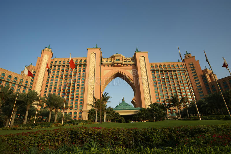 Atlantis Hotel, Palm Jumeirah, Dubai, United Arab Emirates stock images