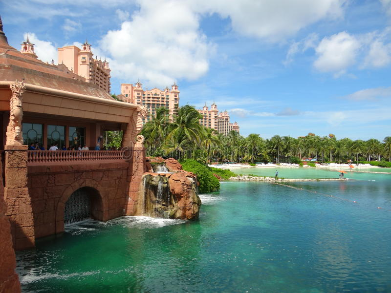 Atlantis Hotel Paradise Island Resort stock images
