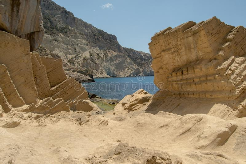Atlantis, Ibiza, de Balearen, Spanje stock afbeelding