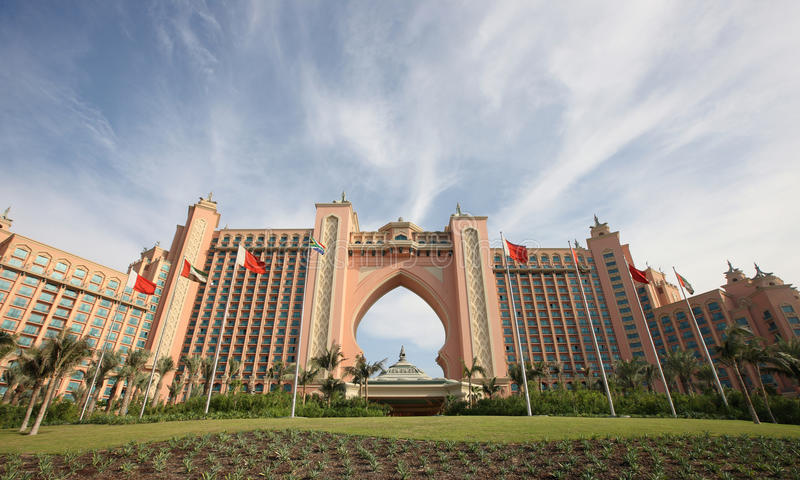 Atlantis na palma Jumeirah em Dubai imagem de stock