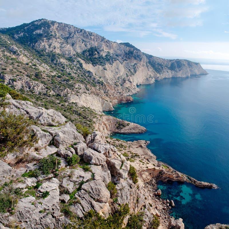 Atlantis op eiland van S Vedra op Ibiza stock foto
