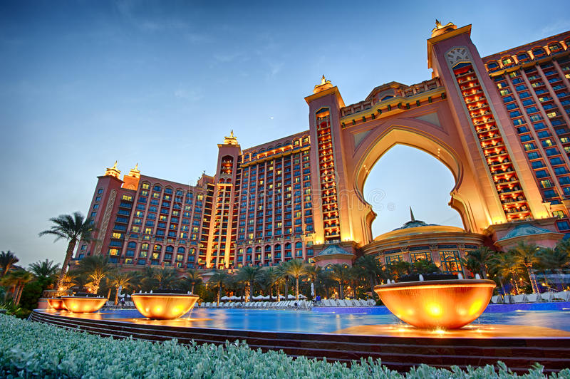 Atlantis, The Palm Dubai royalty free stock photos