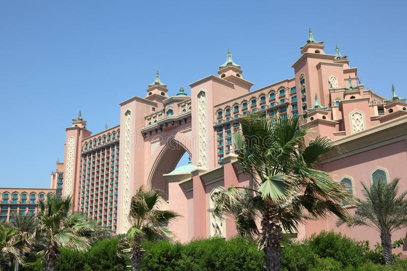 Atlantis, The Palm hotel in Dubai royalty free stock photo