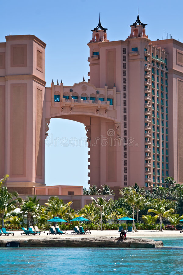 Atlantis Resort, Bahamas. Tower and Luxury Suite at the Resort Atlantis in the Bahamas stock photography