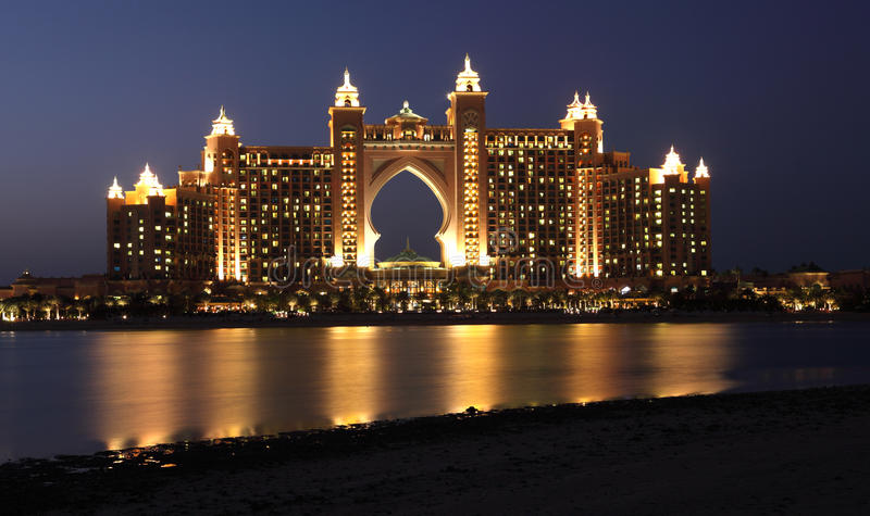 Atlantis w Dubaj Palmowy Hotel fotografia stock