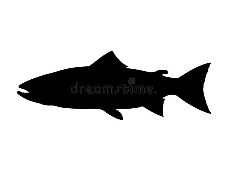 Atlantisch zalmsilhouet Vector illustratie stock foto's