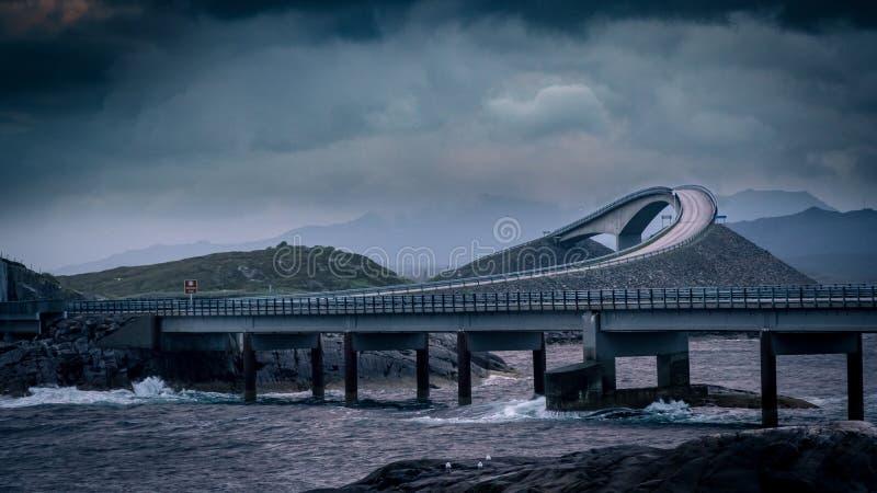 Atlantische Straße, Norwegen stockfotos