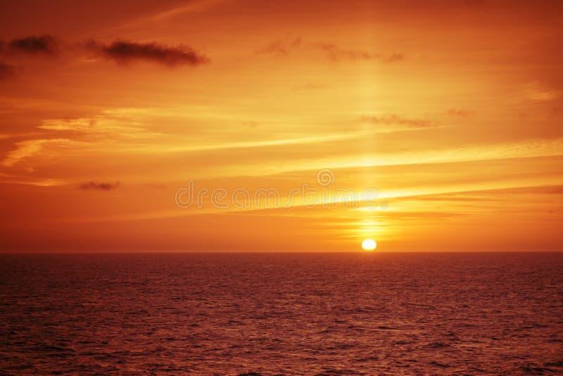 Atlantische Zonsondergang royalty-vrije stock afbeelding