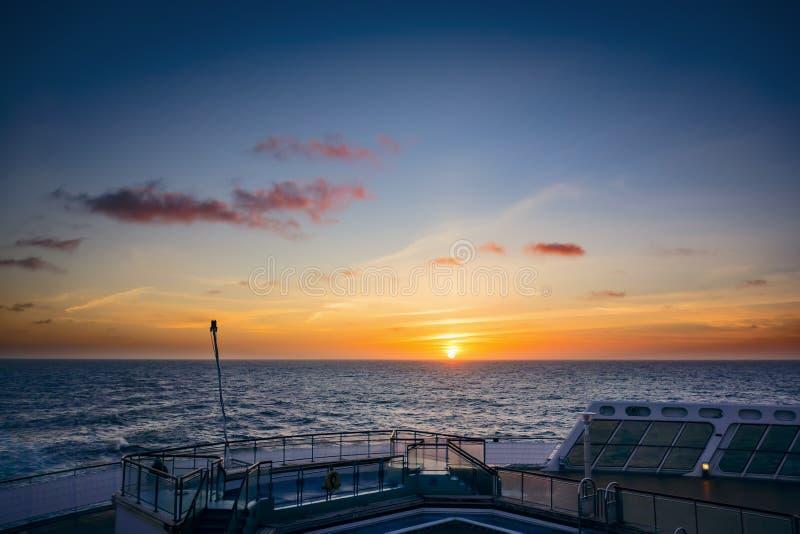 Atlantische Zonsondergang royalty-vrije stock fotografie
