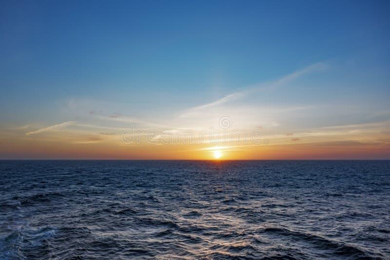 Atlantische Zonsondergang stock foto
