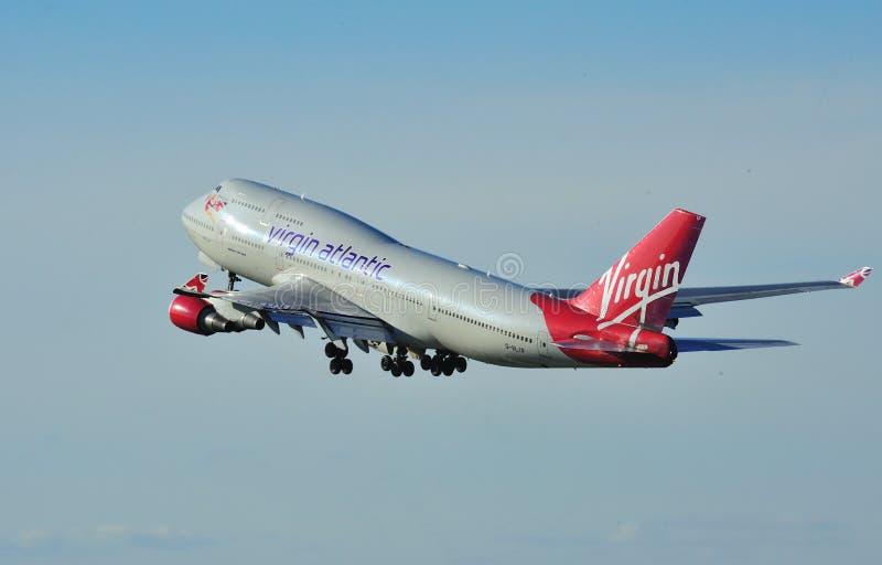 atlantisk boeing oskuld för 747 royaltyfri foto