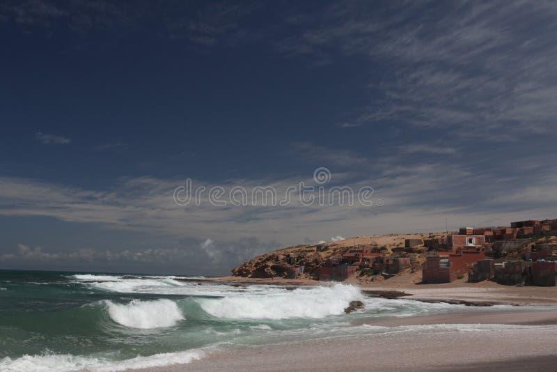 atlantisk fishman maroccohavby fotografering för bildbyråer