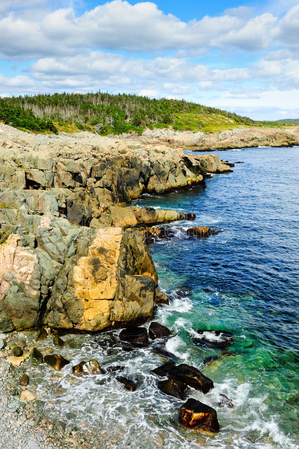atlantisk shoreline royaltyfria bilder