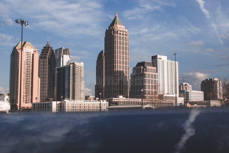 Atlantisk stationsmidtown Atlanta arkivbilder