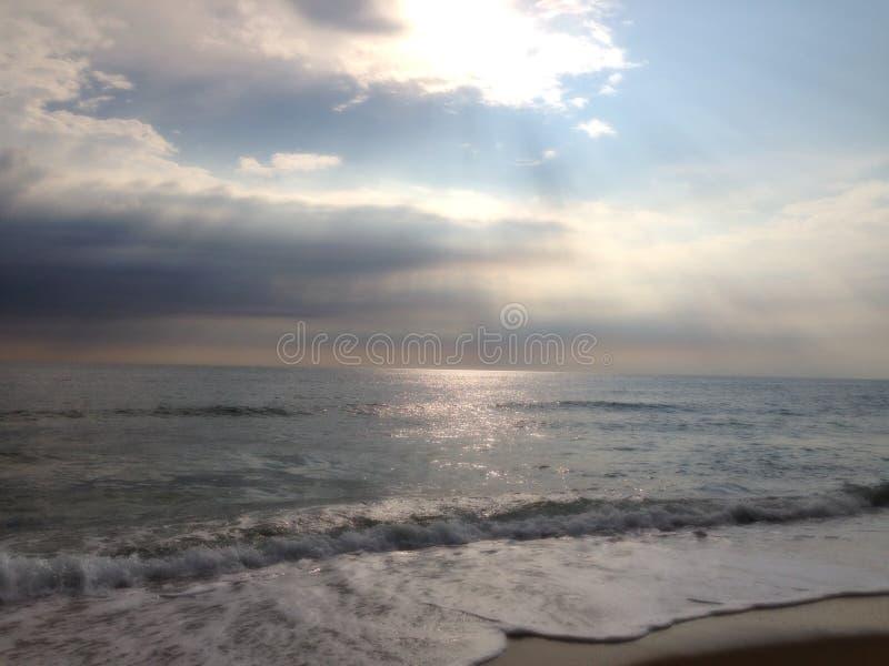 atlantisk strand arkivbild