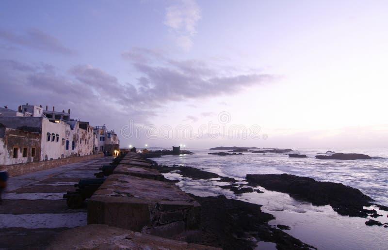 atlantiskt härligt hav för stadsessaouiramor royaltyfri fotografi