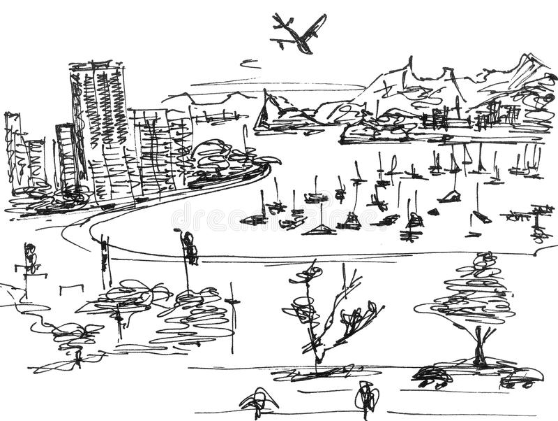 atlantiskt kusthav royaltyfri illustrationer