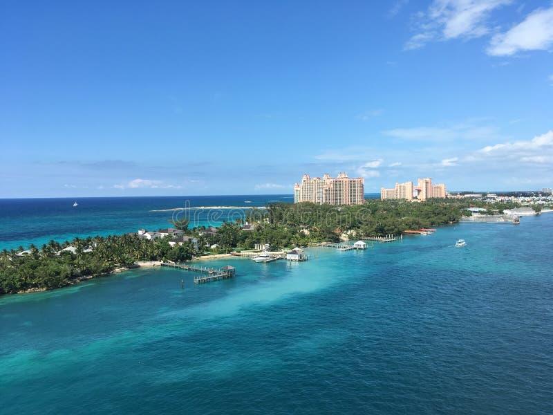 Atlantistoevlucht in Nassau, de Bahamas royalty-vrije stock foto