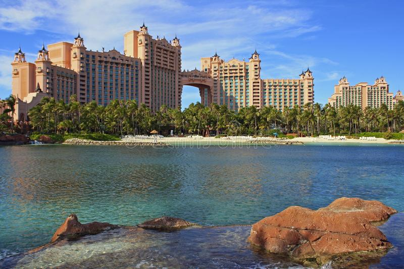 Atlantistoevlucht in Nassau, de Bahamas royalty-vrije stock afbeelding