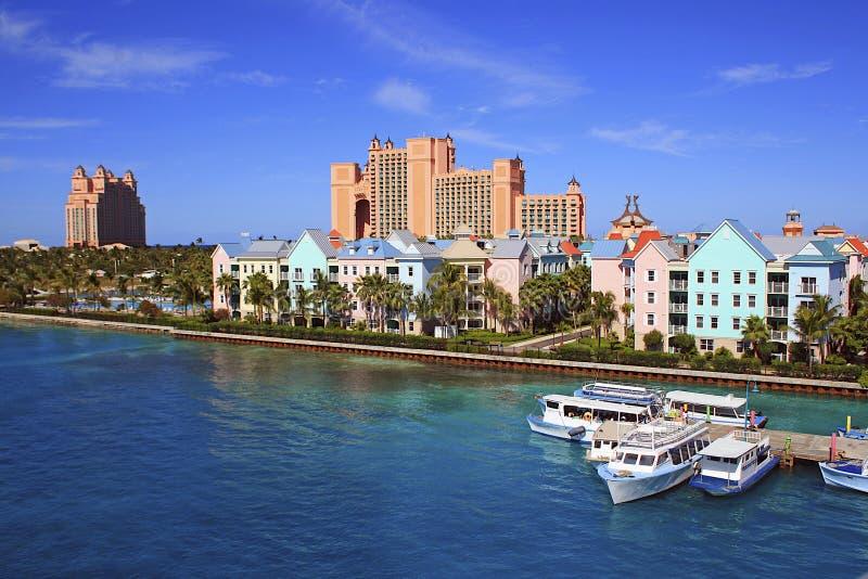Atlantistoevlucht in Nassau, de Bahamas stock foto