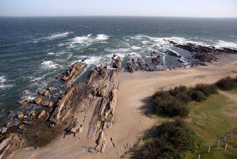 Atlantycka linia brzegowa, los angeles Paloma, Urugwaj zdjęcie stock