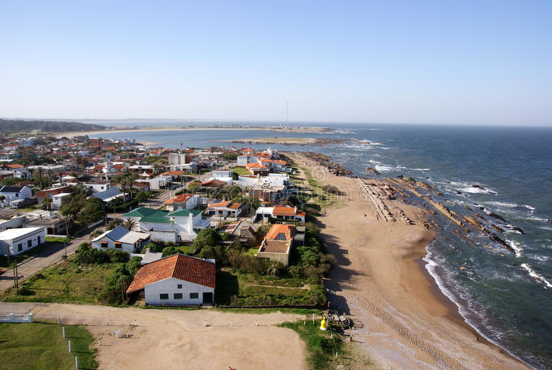 Atlantycka linia brzegowa, los angeles Paloma, Urugwaj obrazy stock