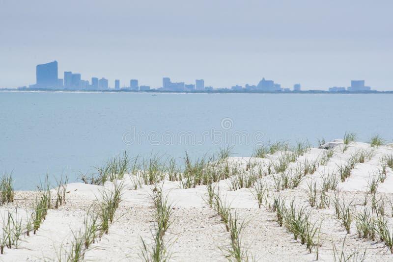 Atlantycki miasto w odległości zdjęcie stock