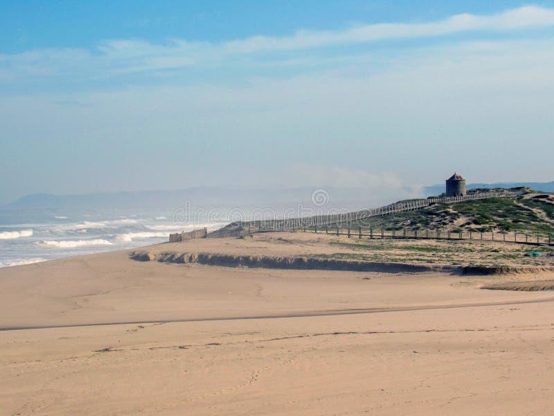 Atlantycki ocean linii brzegowej krajobraz wzdłuż Camino de Santiago portugalczyka w Portugalia, Europa fotografia stock