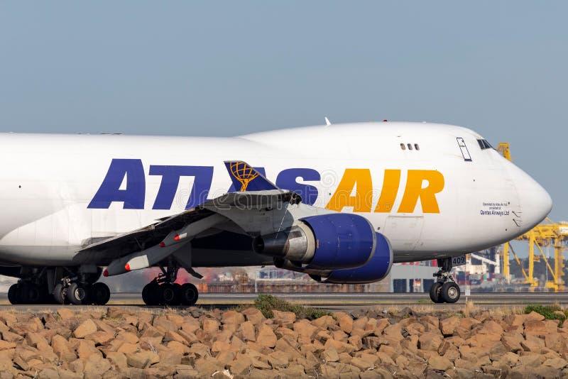 Atlas Air Boeing 747 avions de cargaison chez Sydney Airport photographie stock
