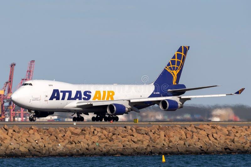 Atlas Air Boeing 747 avions de cargaison chez Sydney Airport photos libres de droits