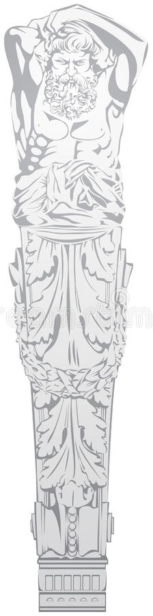 Download Atlas, architecture detail stock vector. Image of tradition - 20288368
