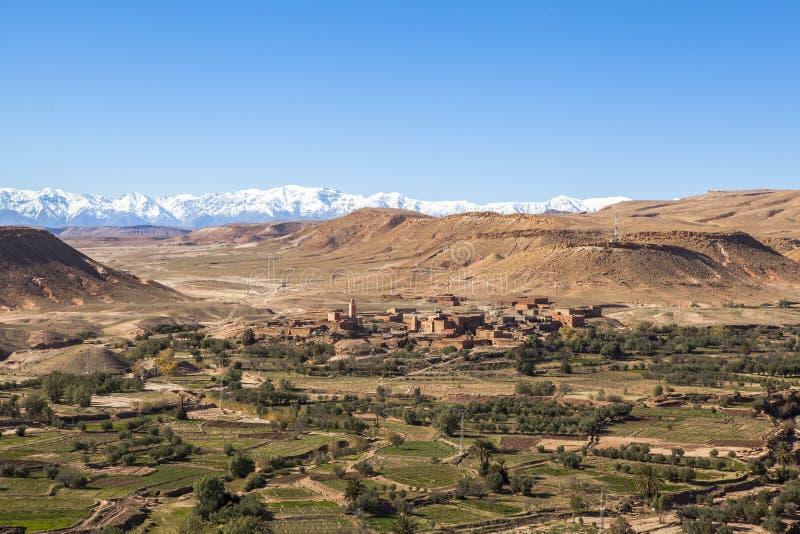 Atlas-Berge in Marokko, Afrika lizenzfreies stockbild