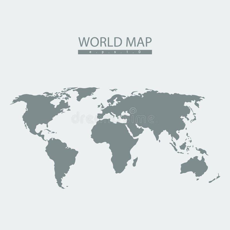 Atlas de carte du monde de vecteur illustration libre de droits