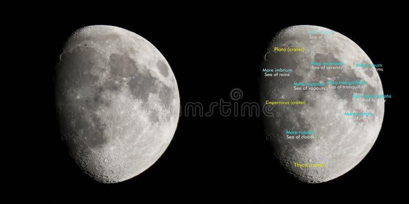 Atlas de la luna fotografía de archivo libre de regalías