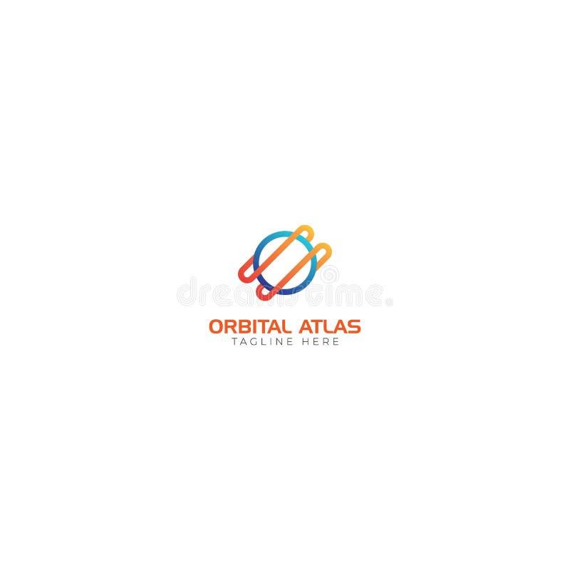 Atlas e espaço orbitais Logo Abstract ilustração royalty free