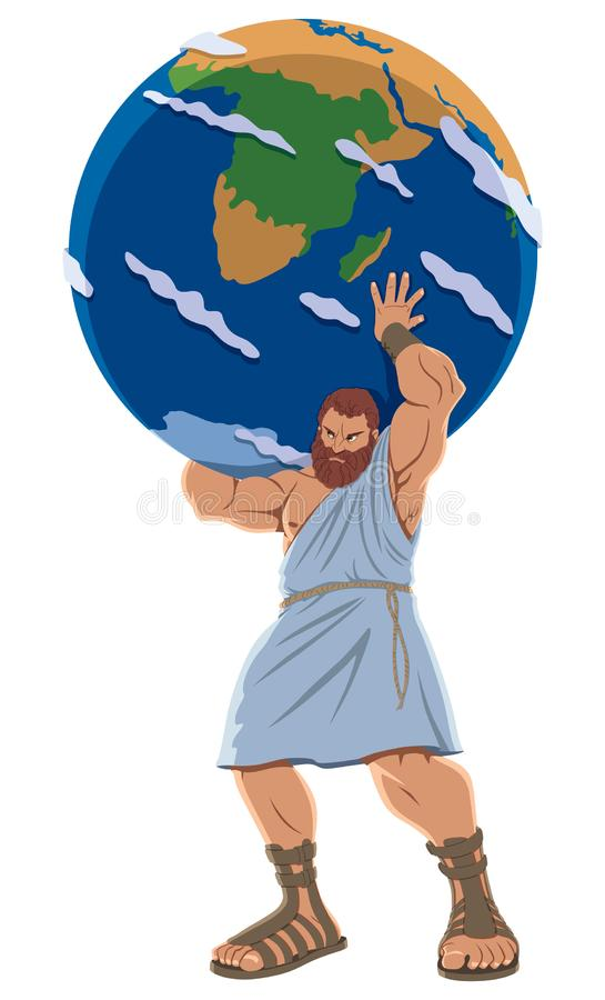 Atlas en blanco libre illustration
