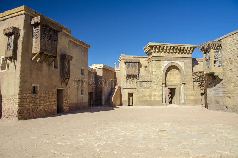 Atlas Film Studios in Ouarzazate. Village in a movie stage in Ouarzazate, Morocco stock images